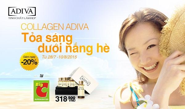 Collagen ADIVA khuyến mãi đón hè tại siêu thị Big C toàn quốc - khuyen mai adiva2015