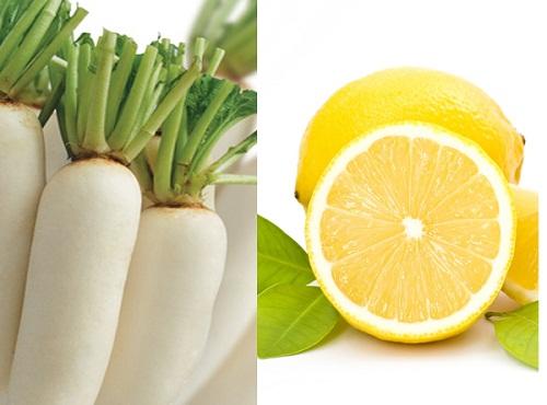 củ cải trắng giúp trắng da