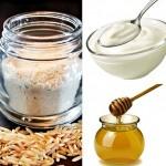 8 cách tẩy tế bào chết bằng nguyên liệu từ thiên nhiên - cám gạo mật ong sữa chua 150x150