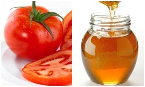 Chống lão hóa bằng cà chua và mật ong