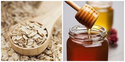 hình mật ong + bột yến mạch