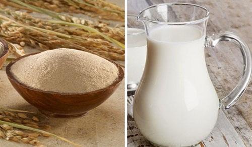 Mặt nạ cám gạo, sữa tươi