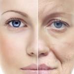 hình phụ nữ lão hóa nửa mặt