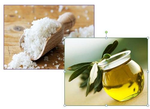 hình muối - dầu ô liu