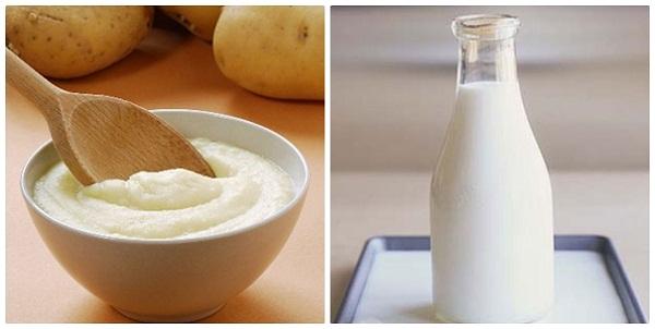 khoai tây - sữa tươi