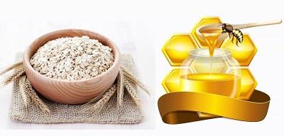 mật ong - bột yến mạch