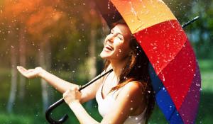Hapy-woman-in-the-rain