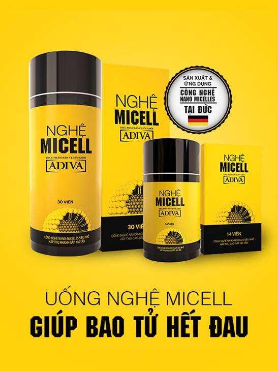 Hỏi: Cho mình biết 1 hộp Nghệ Micell có mấy viên, giá bao nhiêu vậy? - hình nghệ Micell 14 viên