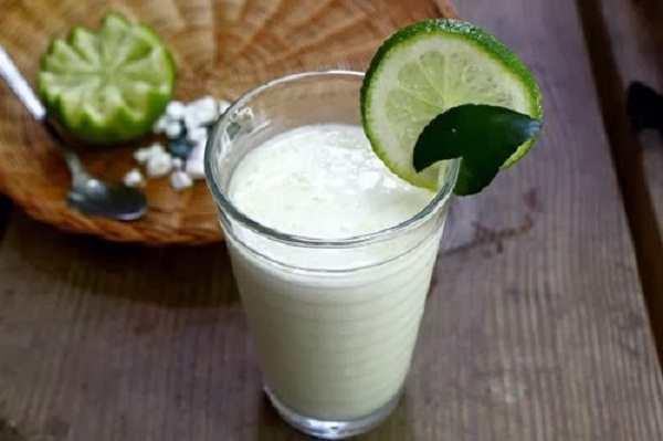 sinh tố sữa tươi - chanh