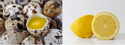 Mặt nạ làm trắng da với trứng cút