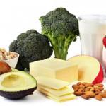 Ăn gì đẹp da chống lão hóa hiệu quả cho phụ nữ tuổi 40? - thuc pham giau canxi 150x150