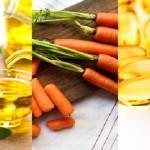 cà rốt - ô liu - vitamin E