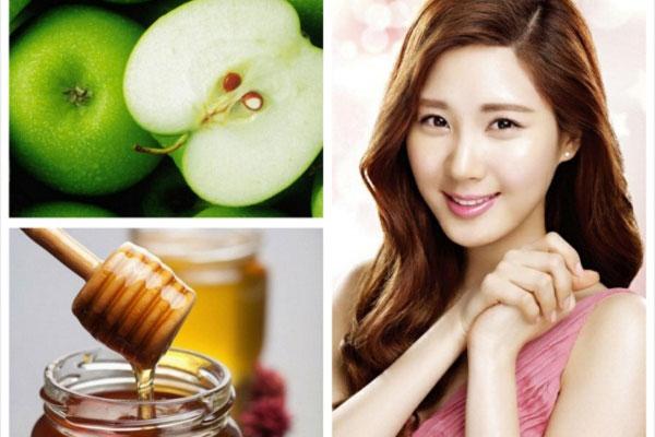 Cách làm mờ vết thâm mụn bằng táo – mật ong