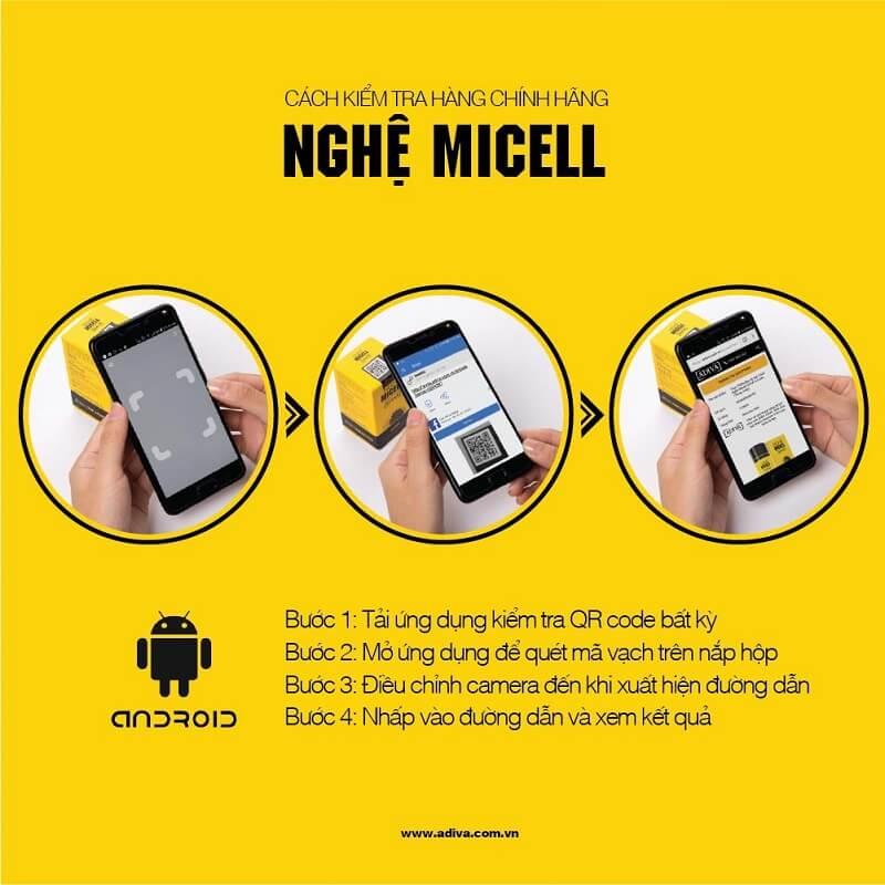 Hướng dẫn tra cứu QR Code sản phẩm Nghệ Micell ADIVA của Đức
