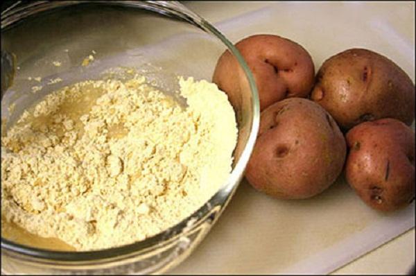 bột khoai tây chăm sóc da 3
