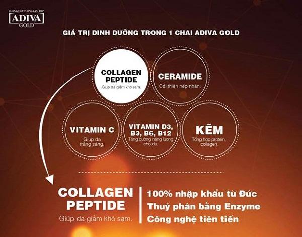 ngăn lão hóa, xóa nếp nhăn với collagen adiva gold