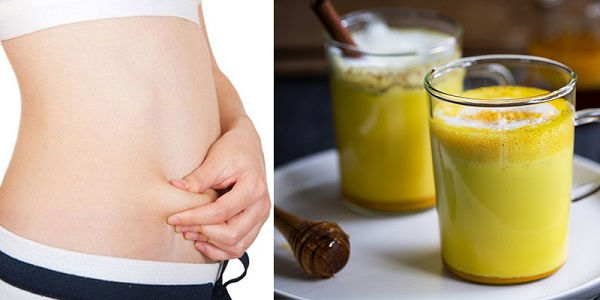 Uống tinh bột nghệ với mật ong hỗ trợ giảm cân