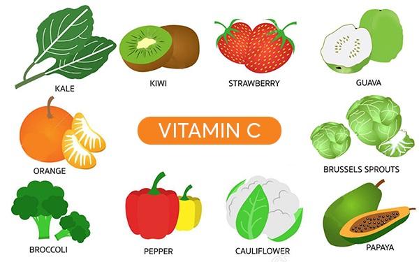 Thực phẩm giàu vitamin C nên bổ sung