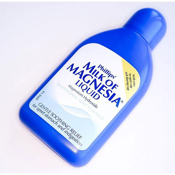 13 biện pháp khắc phục tại nhà để xoa dịu dạ dày nóng rát - milk of magnesia 1