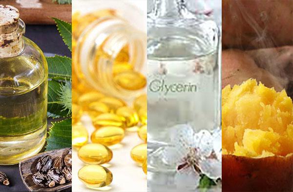 Cách làm 3 mặt nạ khoai lang tại nhà để chống lão hóa - thầu dầu vitamin e Glycerin và khoai lang